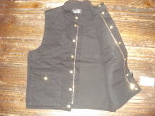 Black Denim Riding Vest